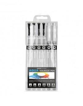Pack pinceles acuarela Molotow Aqua Squeeze Pen x6 / Basic Set 2