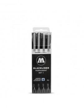 pack de rotuladores calibrados blackliner molotow 4
