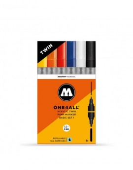 pack rotuladores acrilicos doble punta one4all molotow