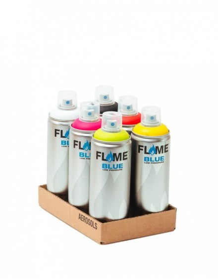 Pack Flame Blue 400ml x6