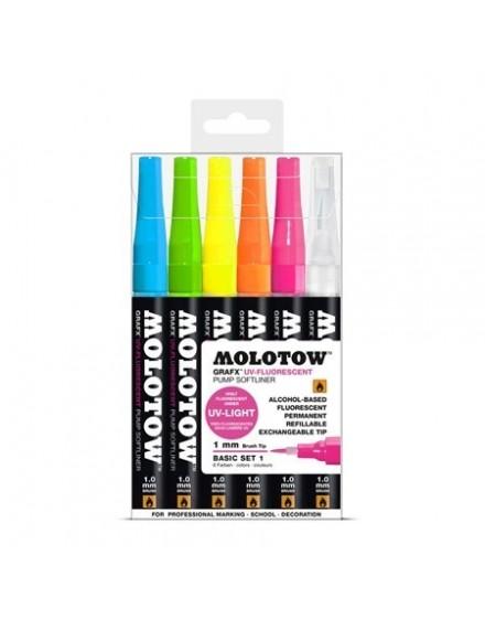 pack rotuladores fotoluminscentes molotow grafx