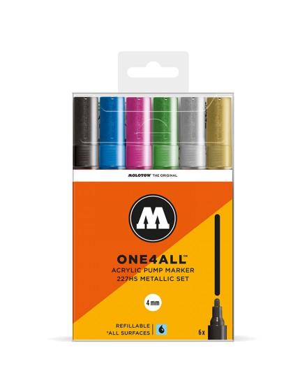 pack rotuladores acrilicos one4all 227HS metallic set