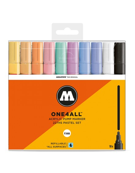 pack rotuladores acrilicos one4all 227HS pastel set x10