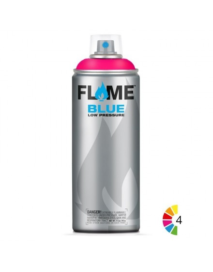 spray pintura fluorescente flame blue