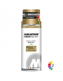 Spray de pintura metalizada Molotow UFA 400ml