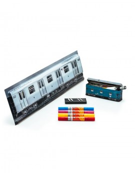 pack acrilic twin-train steell box