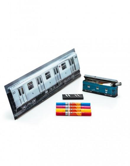 pack acrilic twin-train steell box